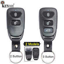 KEYECU para Hyundai Tucson Sotaque Santa Fe 2/3 Botão de Substituição Chave Do Carro Remoto Shell Case Capa Fob