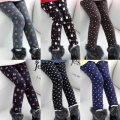 2015 autumn and winter female baby child gril thicken velvet legging long trousers