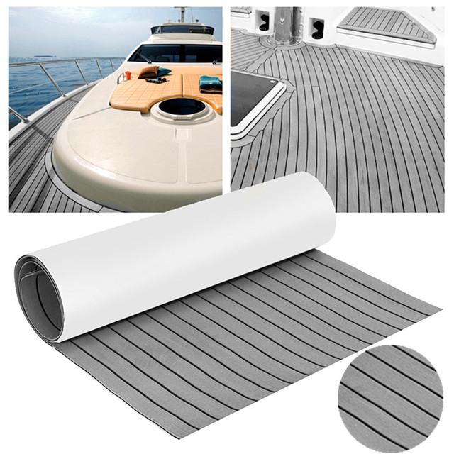 240×45 cm de espuma EVA Mat Marina barco yate RV Auto adhesivo de espuma cubierta de teca de barco espuma sintética piso Mat alfombra