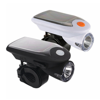 Solar Bicycle Light EMallee Solar Powered USB Rechargeable Waterproof LED Bike Front Light With 360 Degree