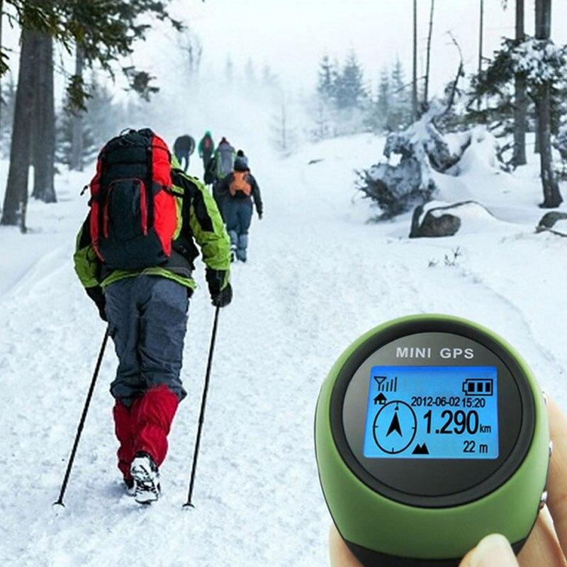 Mini GPS Tracker Tracking Device Travel Portable Locator Pathfinding Motorcycle Vehicle Sport Handheld Keychain Outdoor Travel