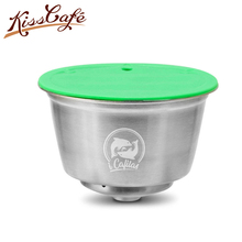 304 Stainless Steel Metal Fit For Nescafe With Filter Uesed 200 Times Capsula Dolce Gusto Coffee Ground Tamper