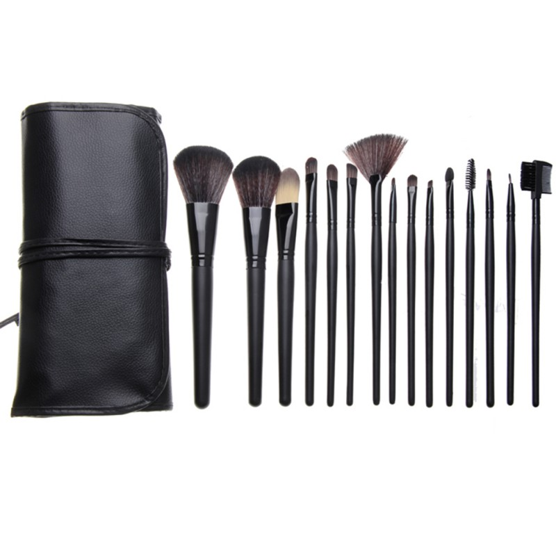 15Pcs Soft Makeup Brushes Professional Cosmetic Make Up Brush Tool Kit Set With Bag High Quality Christmas Gift With Case hot sale 2016 soft beauty woolen 24 pcs cosmetic kit makeup brush set tools make up make up brush with case drop shipping 31