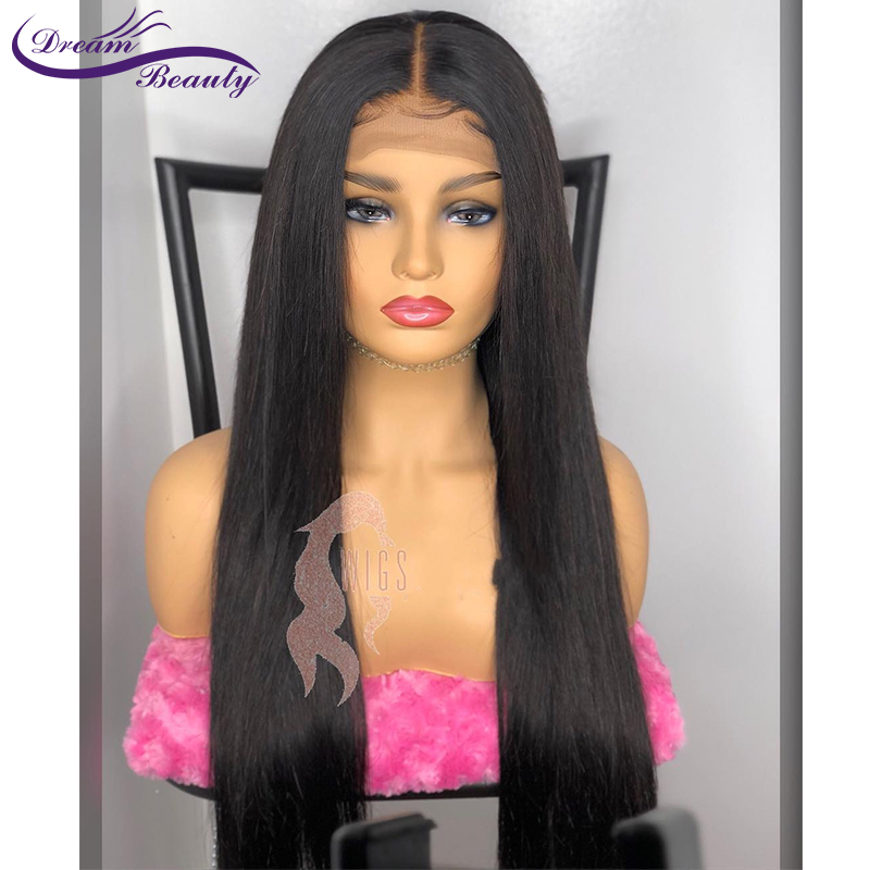 13x6 Lace Front Human Hair Wig Straight Lace Front Human Hair Wig Glueless Pre Plucked Brazilian