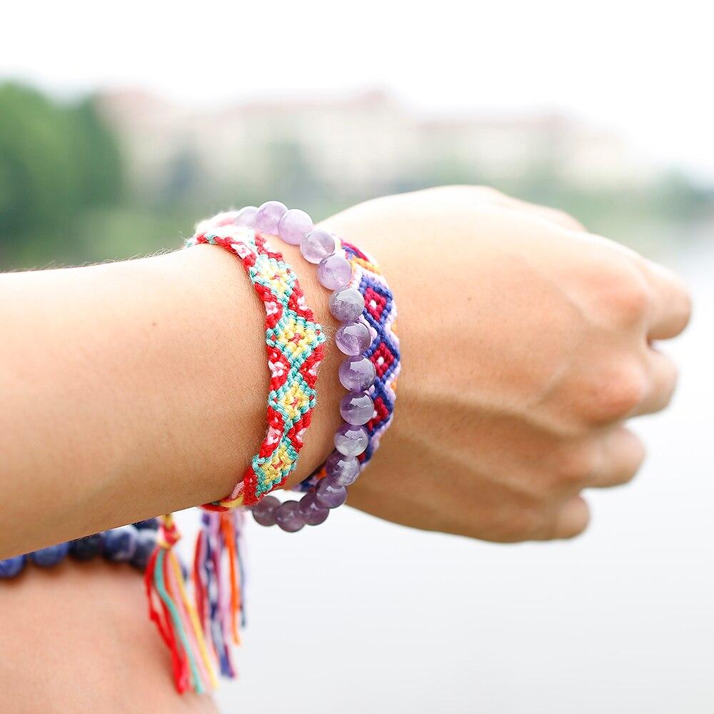HTB147Utc81D3KVjSZFyq6zuFpXa5 Natural Dream Amethysts Quartz Energy Light Purple GemStone Bracelet Women Beaded Stretch Bracelet Energy Gift Jewelry