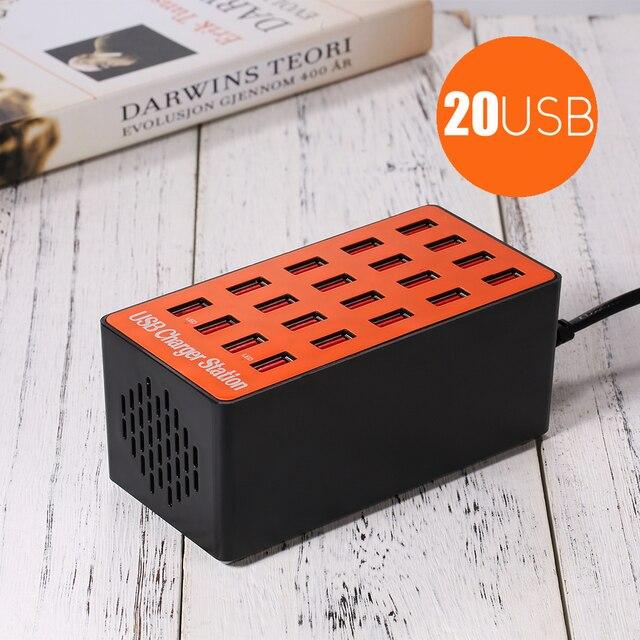 90 ワット 20 ポート USB 充電ステーション電源アダプタの壁旅行デスクトップ充電器ハブ usb 充電器 × 8 アプリサムスン Xiaomi