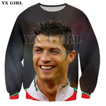 YX Girl 2018 Mens Casual Streetwear 3d Printed Superstar Ronaldo Sweatshirt Polyester Pullover Men Sweatshirts Tops Male S-5XL