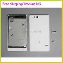 Replacement Original For Sony Xperia Go ST27i ST27 Housing Back Cover Battery Door Case +Key Buttons , Free Shipping