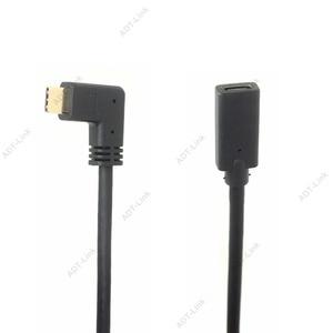 Image 1 - זווית USB C הארכת כבל סוג C Extender כבל USB C Thunderbolt 3 עבור MacBook Pro Nintend מתג USB 3.1 USB הארכת כבל