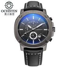 OCHSTIN Мужские Часы Лучший Бренд Класса Люкс 6 ручной Функция Хронограф Военная мужская Бизнес Кварцевые Наручные Часы Montre Homme