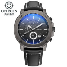 OCHSTIN Mens Watches Top Brand Luxury 6 hand Function Chronograph Watch Military Men's Business Quartz Wrist Watch Montre Homme