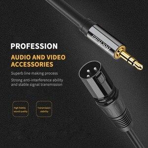 Image 4 - Bochara 3.5mm סטריאו לזכר XLR זכר OFC Aux אודיו כבל רדיד + קלוע מסוכך עבור רמקולים מיקסר 1.5m 3m