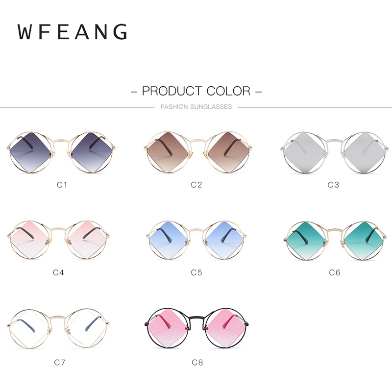 WFEANG New Polygon Sunglasses Women Men Brand Designer Vintage Sunglasses Clear Sun Glasses Sexy Fashion Eyewear in Women 39 s Sunglasses from Apparel Accessories