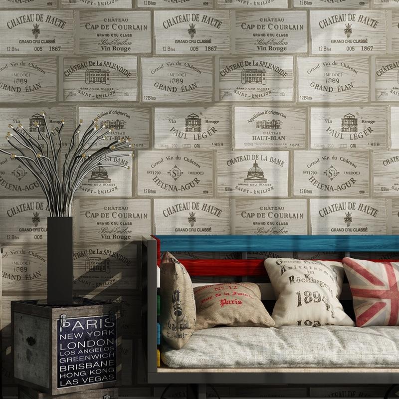 beibehang americana moderna de madera d papel pintado viejo de madera industrial restaurante tienda bodega papeles de la pared