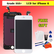 Hot AAA Quality LCD for iPhone 6 6G LCD Display Touch Digitizer Glass Screen Replacement A1549 A1586 Black/White with Warranty