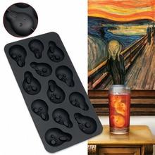 Creative Ice Cube Maker Shouter Cubes Tray Skull Mold Lattice 3D Skulls Whiskey Stone Beer Coca Wine Cooler