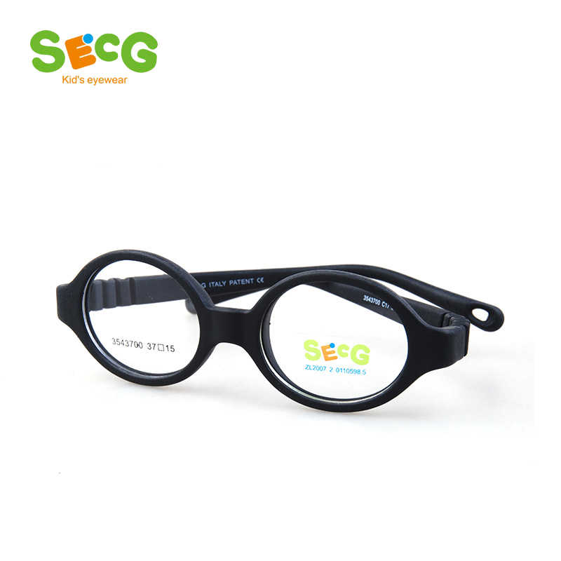 SECG Round Flexible Optical Children Glasses Plastic Frame Unisex TR90 Kids Glasses Myopia for Sight Kids Eyewear Spectacles