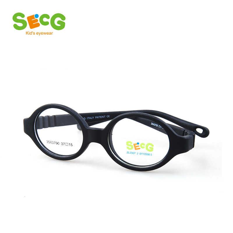 SECG Round Flexible Optical Children Glasses Plastic Frame Unisex TR90 Kids Glasses Myopia for Sight Kids Eyewear Spectacles