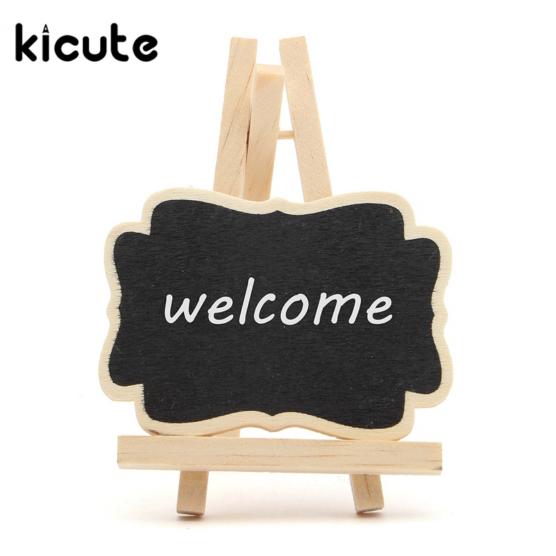 Kicute 10pcs Lot Mini Wooden Triangle Stand Vertical