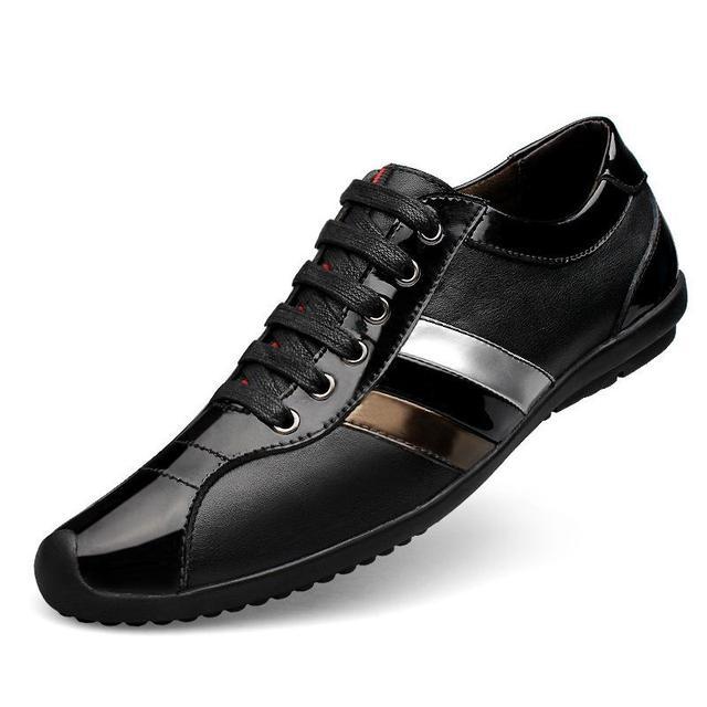 Ventas calientes de los hombres de moda para hombre de los zapatos ocasionales del cuero genuino de calidad del hight de lujo max zapato respirable cómodo tamaño grande