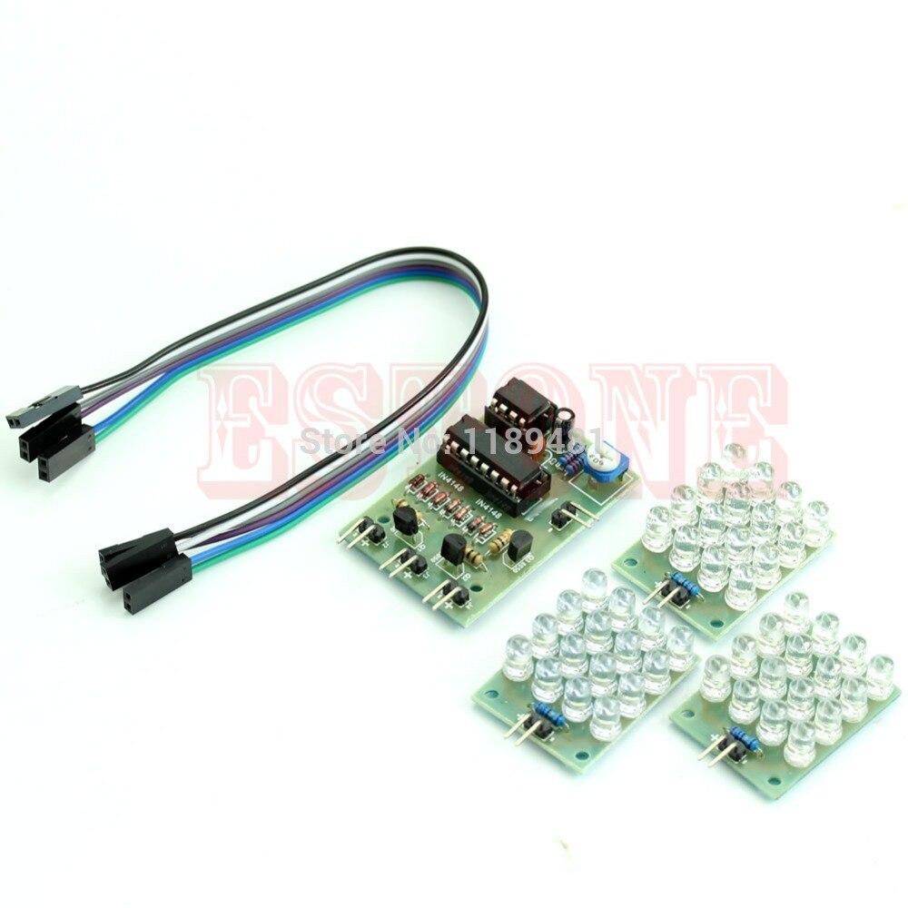 1PC New NE555 Detonation Flash Light Suite DIY Kit 12V CD4017