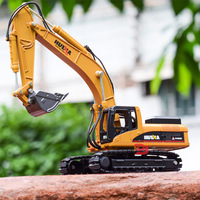 1:50 High Simulation Alloy Excavator Model Diacast Architectural Engineering Vehicle Model Toy Gifts For Boy Children Decoration