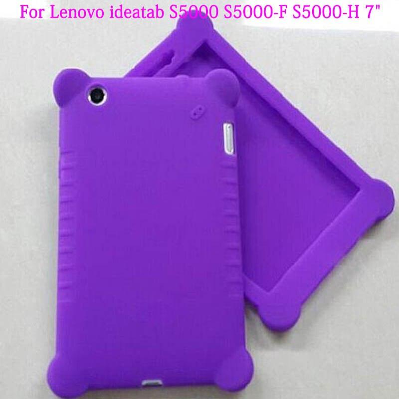 Ultra Slim Rubber Silicon Protective Shell Back Smart Silicone Case Cover For Lenovo ideatab S5000 S5000-F S5000-H 7Tablet аксессуар чехол lenovo ideatab s6000 g case executive white