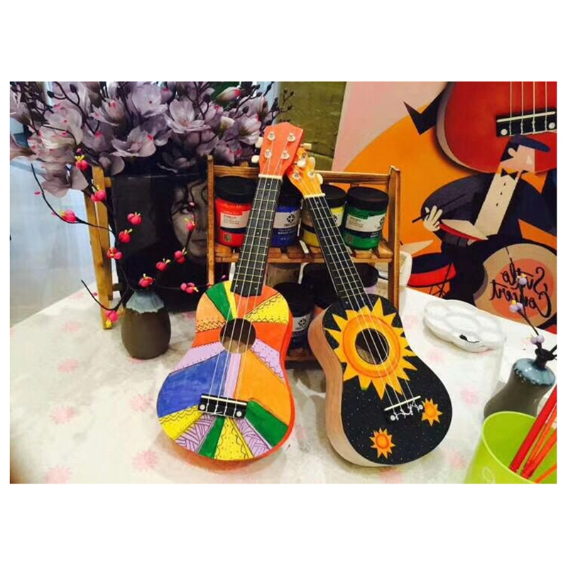 Irin 23 Inch Ukulele Basswood Diy Kit Concert Hawaii Guitar For Handwork Painting Parents-Child Campaign