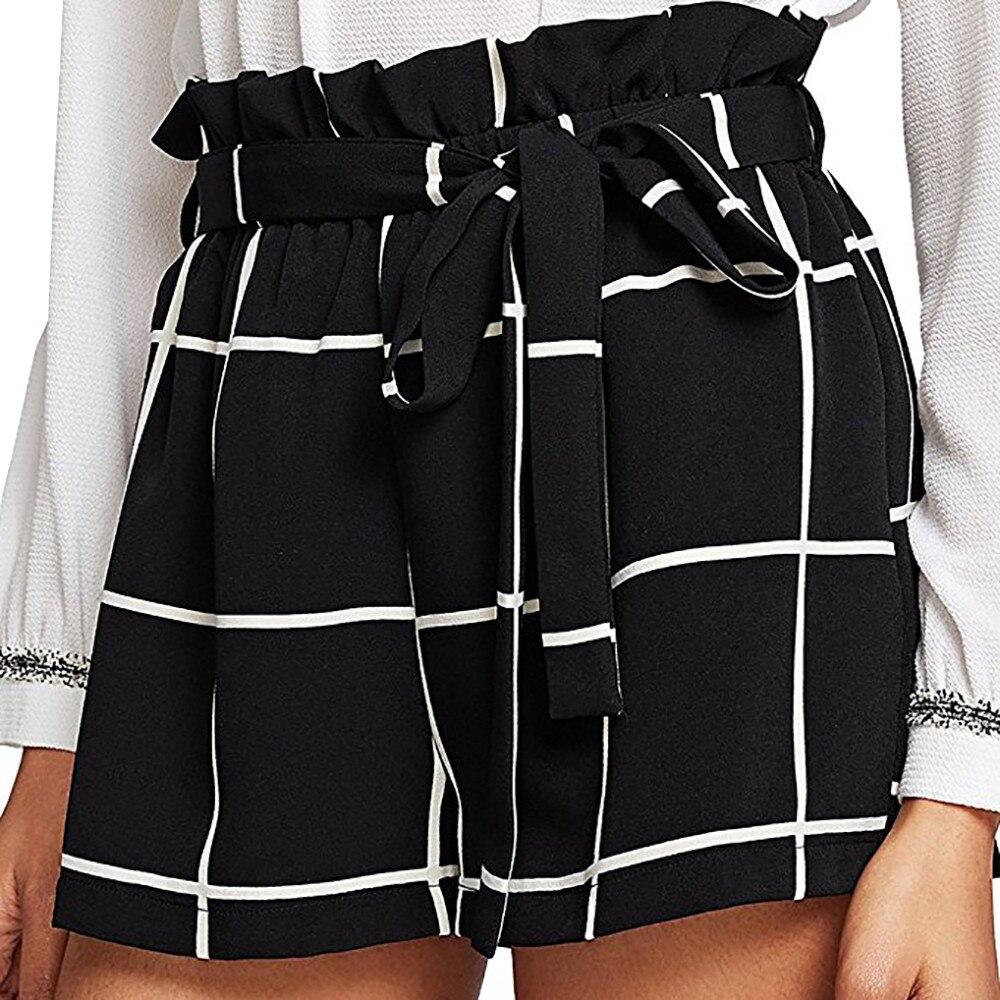 Pantalones Cortos De Tela Escocesa Para Mujer Shorts De Cintura Media Suelto Jersey Para Caminar Cortos De Vaqueros Cintura Alta Spodenki Pantalones Cortos Aliexpress