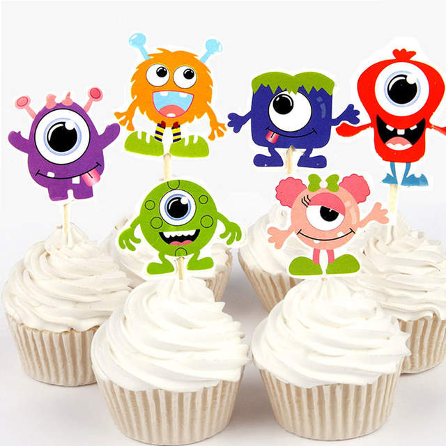 Excellent 24Pcs 48Pcs Monster University Cupcake Topper For Cake Decoration Personalised Birthday Cards Epsylily Jamesorg