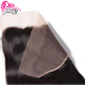 Image 5 - Beauty Forever 13*4 Lace Frontal Straight Brazilian Hair Free Part Ear to Ear 100% Remy Human Hair Lace Frontal