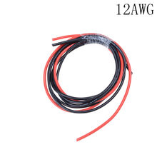 1meter Rot + 1meter Schwarz Weiche Silicon Hitzebeständigen Draht Kabel 12AWG 14AWG 16AWG 22AWG 24AWG Silikon Silica Gel draht(China)