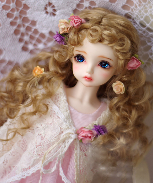 BJD doll wigs milk tea brown curly bang Imitation mohair wigs for 1/3 BJD DD SD doll long curly wigs doll accessories цены онлайн