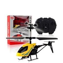 RC Elicottero 2 CH 2.5 Canali A Raggi Infrarossi Mini RC Drone Aereo Con Giroscopio Resistente Agli Urti RC Giocattoli Per I Bambini Del Ragazzo regalo Rosso Giallo