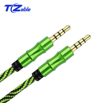 3.5 Jack Audio Cable 3.5 mm Male to Male Aux Cable For Car Wire Line Aux Cord 1M 4Poles Plug For Mobile Phone SpeakerLine high quality 1m car audio jack plug male to male aux cable 3 5 mm audio male to male cables for headphone mp3