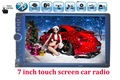 Newest 7 Inch LCD HD Double DIN Car In-Dash Touch Screen Bluetooth/ FM/ MP4/MP5 player Auto radio Support rear view camera