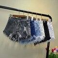 Evergreat 2017 ripped pocket women shorts Summer casual denim shorts vintage hot shorts denim shorts for women X004