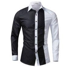 Hommes Chemise À Manches Longues 2017 Marque Chemises Hommes Casual Male Slim  Fit De Mode Sort e63b7061ed91
