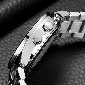 Image 4 - GUANQIN Fashion Brand Watch Men Luxury 2018 Stainless Steel Men Watch Date Waterproof Male Clock Man Black Wrist Quartz Watch B