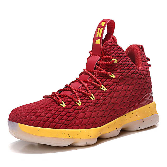 promo code 48d53 575d1 New High Top Lace Up Lebron James 13 Basketball Shoes Cushioning Shockproof  Couple Georgetown Athletic Outdoor Sport Shoes