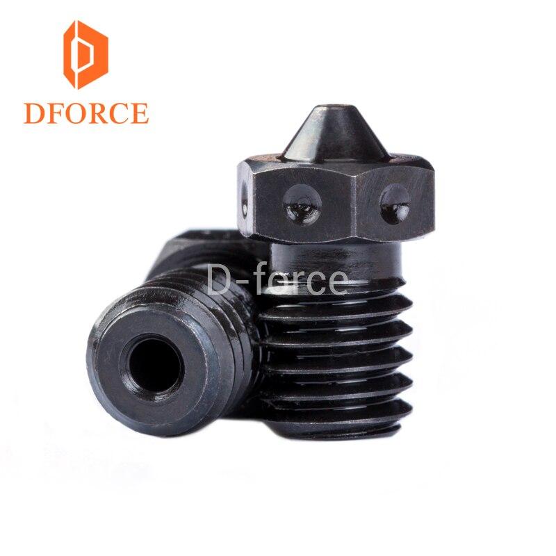 Dforce trianglelab 1 unid calidad superior A2 acero endurecido V6 boquillas para impresión PEI PEEK o filamento de fibra de carbono para e3D HOTEND