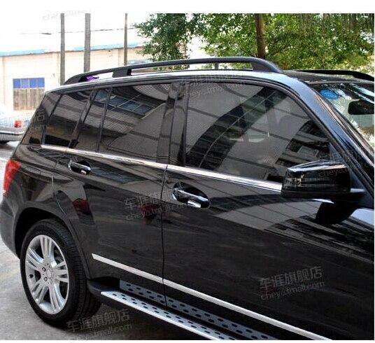 6 pcs En Acier Inoxydable Fenêtre De La Voiture Moulage Garniture Décoration Pour Mercedes Benz X204 GLK200 GLK300 Voiture Accessoires