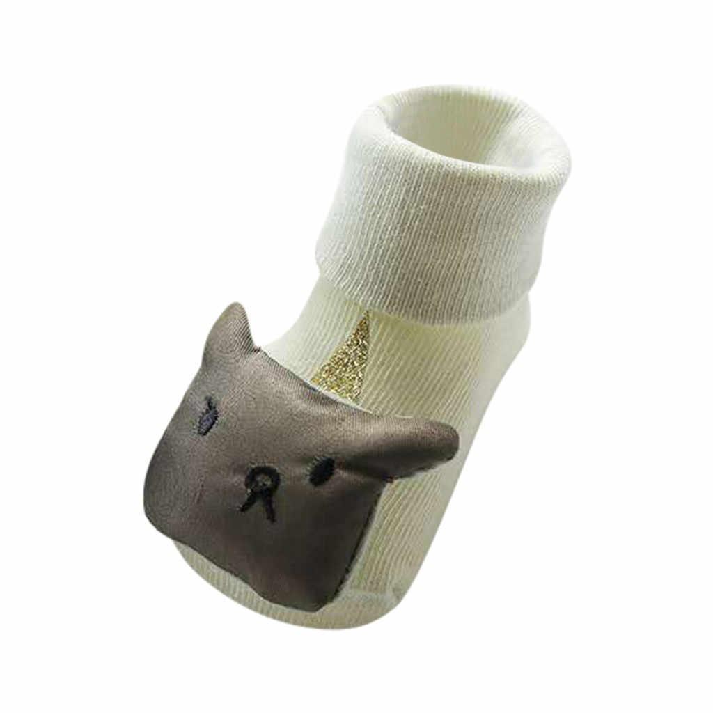 Calentadores de piernas antideslizantes para bebés, niños, niñas, animales de dibujos animados, calcetines protectores de rodilla para bebé, Rodilleras