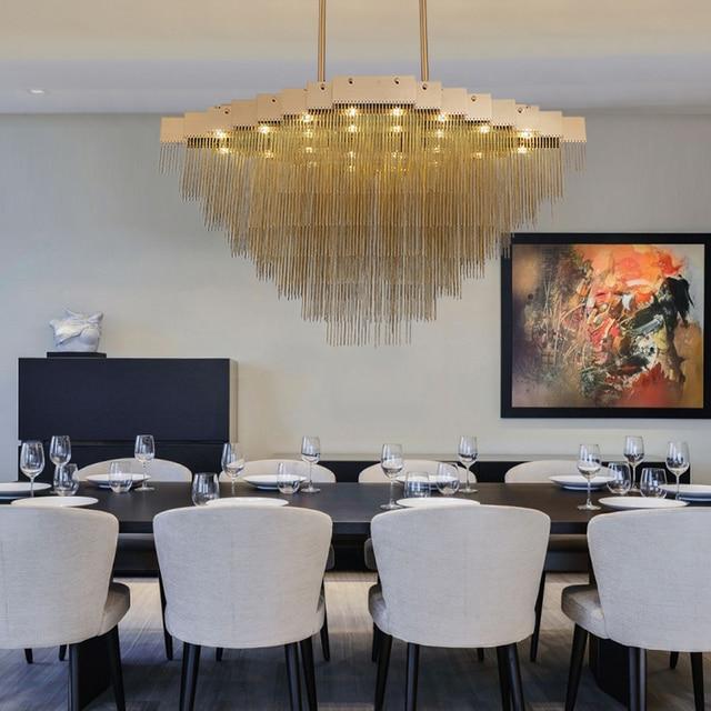 Modern Foyer Lights Fashion Italian Design Light For Living Room Art Pendant Lamp Gold Contemporary Luxury