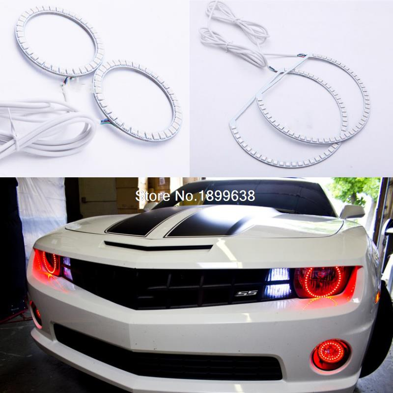 7 Color RGB Multi Color LED Angel Eyes Kit with a remote control For Chevrolet Camaro
