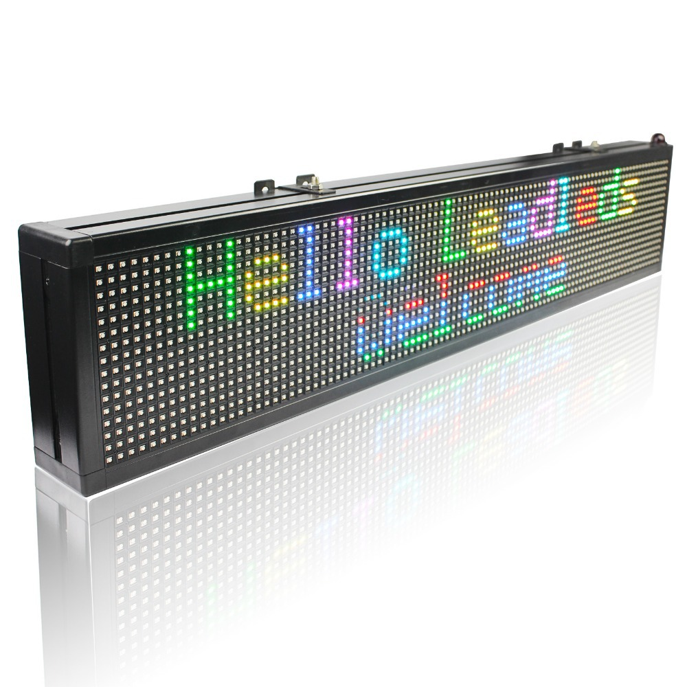 49 X6 Inches Led Display Board Indoor Programmable Scrolling Message Led Sign For Business And Store - RGB Full Color Message