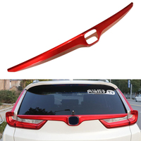 ABS Chrome Car Styling Rear Trunk Lid Tailgate Boot Back Door Cover Trim Garnish Strip Exterior