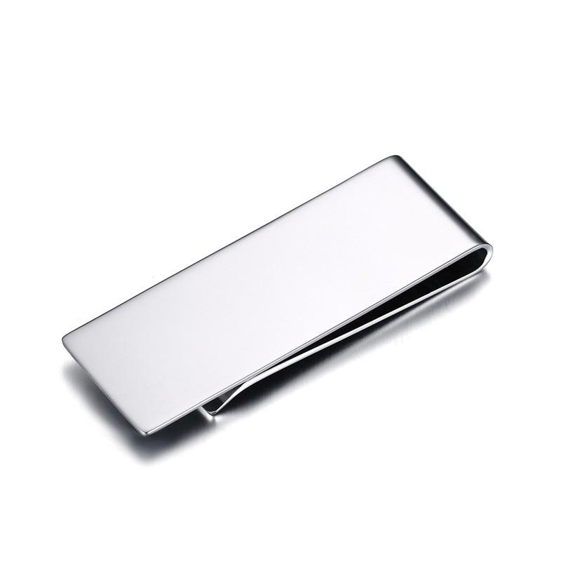 Online Shop Titanium Stainless Steel Money Clip Metal Business Card ...