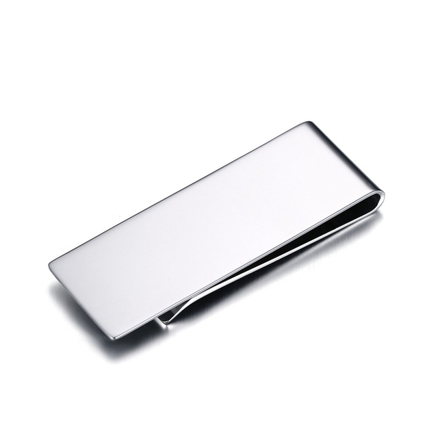Titanium stainless steel money clip metal business card credit titanium stainless steel money clip metal business card credit card cash wallet polished cash clamp holder colourmoves