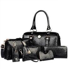 2017 High quality patent Leather Crocodile Pattern Women Handbag Crossbody bag Shoulder bags 2Handbag Messenger Bag